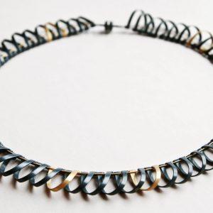 Naszyjnik – srebro patynowane i srebro pozłacane, zapięcie magnetyczne