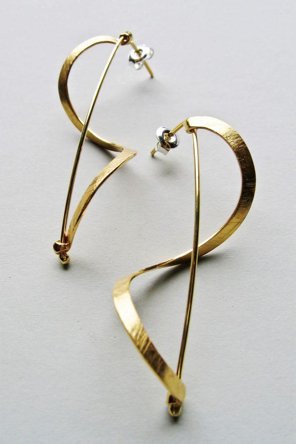 Kolczyki wstązki złocone