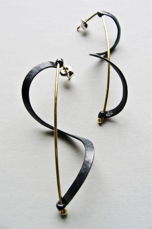 Kolczyki wstązki czarne