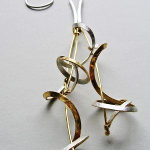 """Wisior """"Supeł"""" złoto - srebrny na łańcuszku"""